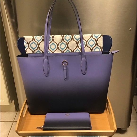 """Kate Spade Large Tote in """"Hombre Nightcap"""""""